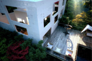 Exterior cube house